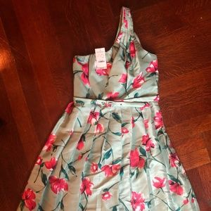 NWT Express One-Shoulder Floral Dress